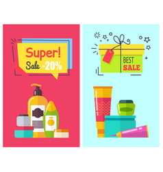 super sale -20 posters set vector image