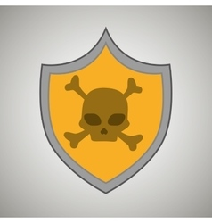 symbol skull bones data vector image