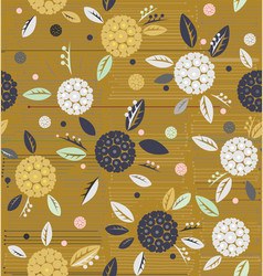 traditional decorative flowers on a background of vector image