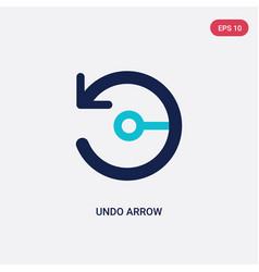 Two color undo arrow icon from arrows concept vector