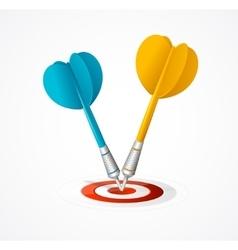Two darts hit target vector