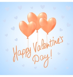 Valentine39s day background with heart balloons vector image
