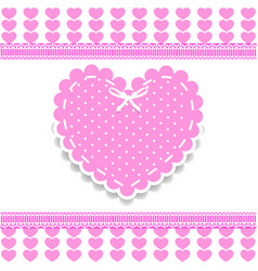 valentines love wedding or baby girl shower vector image
