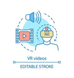 Vr videos concept icon vector