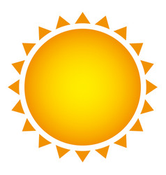 yellow beautiful sun abstract icon vector image