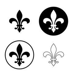 fleur de lis icon set vector image