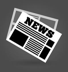News Icon vector image