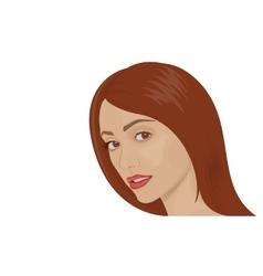 Portrait of a young brunette woman vector image