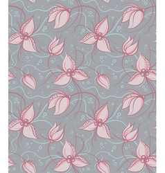 Seamless orchid flowers vector image vector image