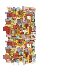 Abstract cityscape background sketch for your vector image