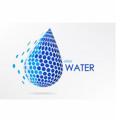 abstract logo water design vector image