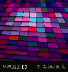 Abstract multicolored tiles materials purple vector image vector image