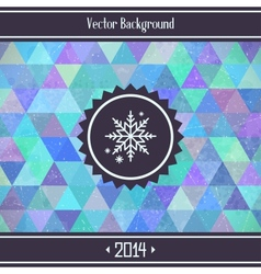 Christmas Triangles Background vector image