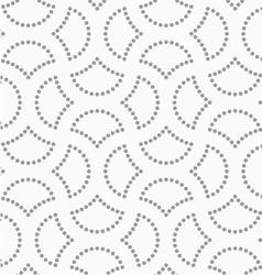 Dotted cut circle pin will vector image vector image