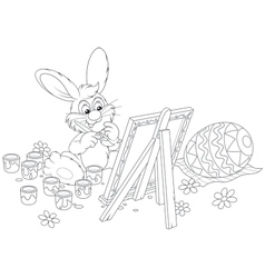 Easter Bunny artist vector image vector image