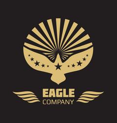 heraldic eagle logo on black background vector image vector image