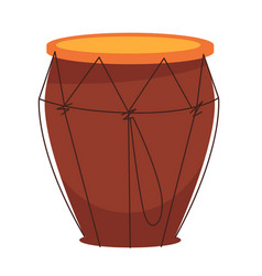 National african tom-tom drum made of wood vector