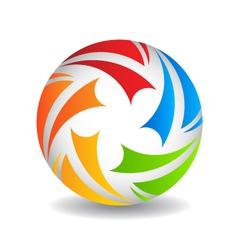 Play ball Logo design vector image vector image