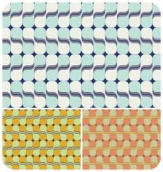 retro swirls vector image
