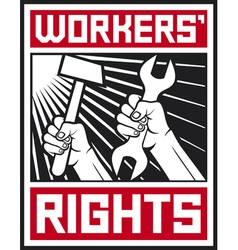 socialist workers rights posters vector image