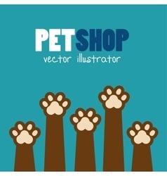 symbol pet shop paw print brown icon vector image vector image