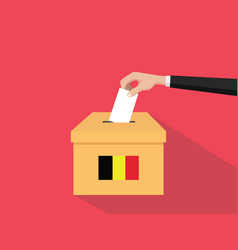 belgium election vote concept with vector image
