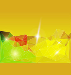 bright gold diamond lowpoly vector image vector image