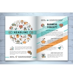 business brochure template A4 size line vector image