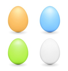 Colored Eggs vector image