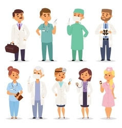 Different doctors charactsers set vector image vector image