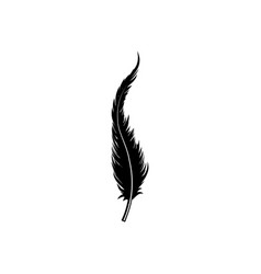 feather silhouette isolated on white background vector image