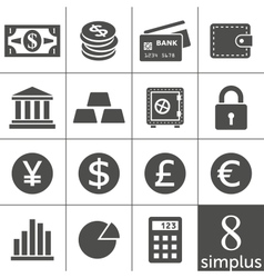 Financal icons set - Simplus series vector image vector image