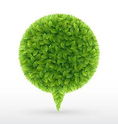 foliage bubble5 vector image vector image