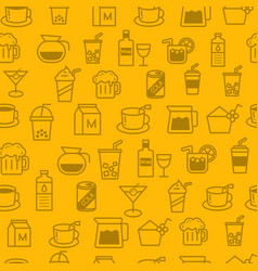 line style icons seamless pattern baverage vector image vector image