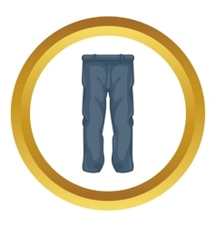 Men pants icon vector image vector image