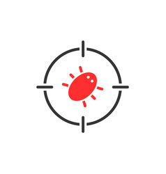 red bug in target vector image