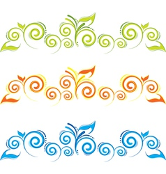 Swirl floral border vector