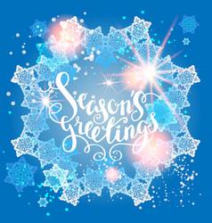 Winter snow greeting vector