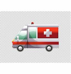 ambulance van on transparent background vector image vector image