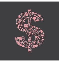 Art dollar vector image vector image