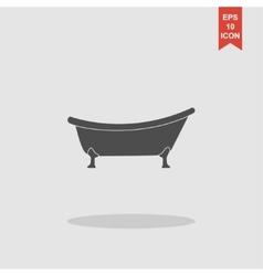 Bathtub Icon Flat design style vector image