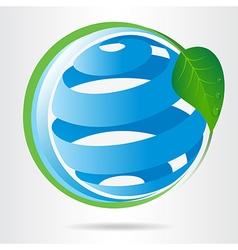 Conceptual eco icon vector image