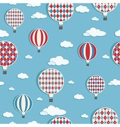hot air balloons pattern vector image