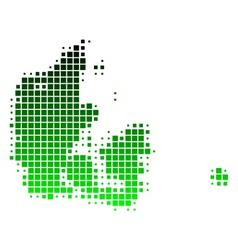 map of denmark vector image vector image