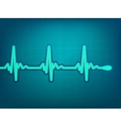 Normal electronic cardiogram vector image vector image