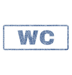 wc textile stamp vector image vector image