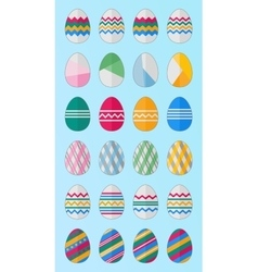 24 easter eggs vector