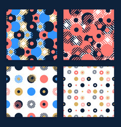 abstract background seamless pattern set made vector image