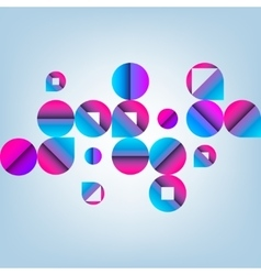 Abstract Pattern with Circles vector