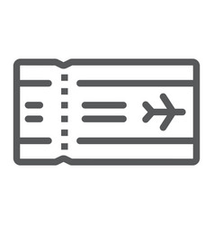 airport ticket line icon travel and tourism vector image